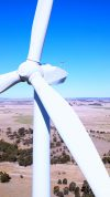 Wind Turbines in the NSW Country Side between Sydney and Melbourne